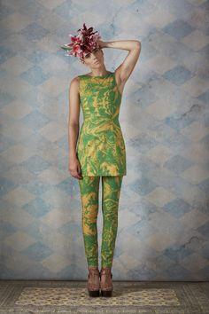 #CharlotteTaylor SS13 Cotton Mini Dress in Green Marble Print. Jeans in Green Marble Print.   http://charlottetaylorltd.com/