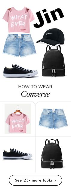 """Jin"" by teonav on Polyvore featuring Frame, Converse, NIKE and MICHAEL Michael Kors"