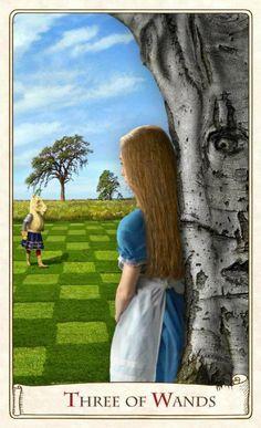 Alice Tarot - three of wands