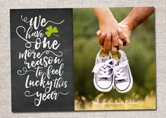 St.+Patricks+Day+Pregnancy+announcement:+by+CardsEtcetera+on+Etsy