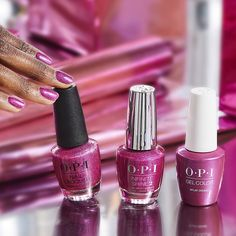 This holographic fuchsia is what #MylarDreams are made of. #ColorIsTheAnswer #OPICelebration #OPINailLacquer #OPInfiniteShine #OPIGelColor #BrightNails #BrightMani #PinkNails #PinkMani #PartyNails #HolidayNails #FestiveNails #NailGoals #NailLove #TrendyNails #GelNails #NailedIt
