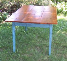 Farmhouse kitchen table from reclaimed pine.