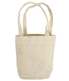 """Shop  5"""" x 5"""" x 2"""" Cotton Tote Bags - 6 Pack at onlinefabricstore.net for $4.80."""
