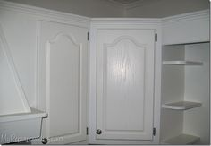 How I painted my oak cabinets