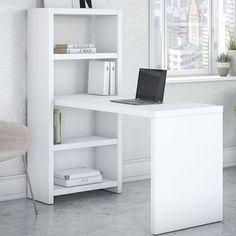 """Kathy Ireland Office by Bush Echo 56"""" W Bookcase Desk Office Suite"""