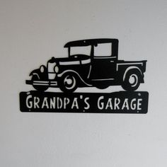 Man Cave Classic 1929 Ford Truck Model A by Garages, Ford Truck Models, Personalized Metal Signs, Plasma Cutter Art, Christmas Note, Truck Signs, Handmade Wooden Toys, Man Cave Signs, Garage Signs