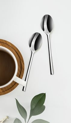 HEYNNA® Llano Kaffelöffel Teelöffel Set 6er Modernes Besteck Design, German Cuisine, Cutlery Set, Stainless Steel, Design Comics