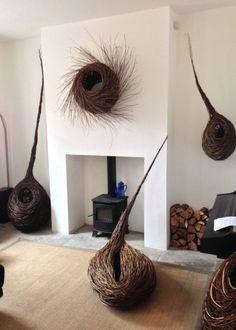 willow forms may 15 - Gardendeko Textile Sculpture, Textile Art, Sculpture Art, Willow Weaving, Basket Weaving, Wire Basket, Basket Willow, Contemporary Baskets, Twig Art