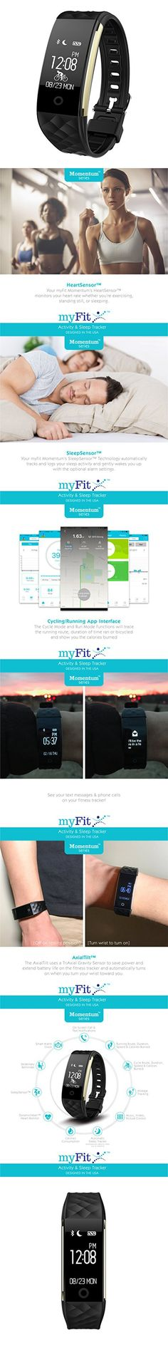 [New] myFit Momentum 2 Run & Cycle Series Fitness Activity & Automatic Sleep Tracker Watch Wrist Band Heart Rate Monitor Pedometer workout calorie sports distance step bit counter minute charge) Fitness Watch, Fitness Band, Fitness Tracker App, Run Cycle, Fitness Motivation, Fitness Workouts, Fit Couples, Fitness Activities, Heart Rate