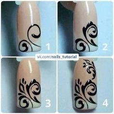 Semi-permanent varnish, false nails, patches: which manicure to choose? - My Nails Swirl Nail Art, Nail Art Diy, Easy Nail Art, Diy Nails, Fancy Nails, Pretty Nails, Nail Art Arabesque, Lines On Nails, Creative Nails