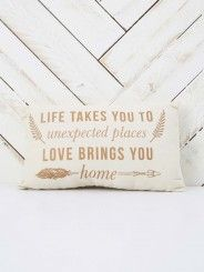 Unexpected Places Pillow