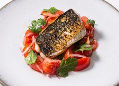 Charred mackerel with tomato ceviche