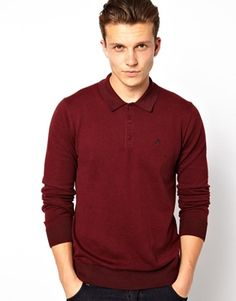 ASOS Peter Werth Oxblood Marl Melange Polo Long Sleeve £49 (336678)