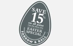 Thursday 17th March - Sunday 20th March, Warings at Home will be offering 15% off of all Farrow & Ball paint exclusively to our subscribers - just in time for Easter weekend.  Make sure you visit www.waringsathome.co.uk, sign up to our newsletter, and receive your exclusive discount code for this offer that is not to be missed!