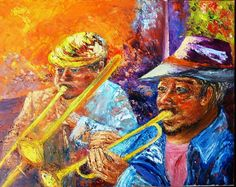 Down in New Orleans by Mary Ann Day, Oil on canvas Down In New Orleans, New Orleans Art, Colorful Drawings, Art Drawings, Jazz Art, London United Kingdom, Painting People, Oil Painting On Canvas, Canvas Frame