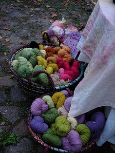 Plant dyed wool yarn by JardarMama, via Flickr