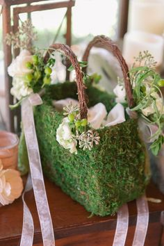 Mountain Wedding Ideas Mission Viejo Wedding from Brooke Keegan Weddings and Events Ikebana, Housewarming Decorations, Flower Girl Basket, Flower Girls, Floral Bags, Bridesmaid Flowers, Floral Arrangements, Floral Design, Mission Viejo