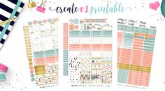 NEW Free Printable! I love this paper set I found at Free Pretty Things for You! I made Full boxes that will fit the Classic Happy Planner, and The Erin Condren Ve… To Do Planner, 2017 Planner, Mini Happy Planner, Free Planner, Erin Condren Life Planner, Planner Ideas, Student Planner, Printable Planner Stickers, Free Printables