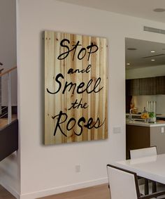 Look what I found on #zulily! 'Stop and Smell the Roses' Wood Wall Art #zulilyfinds