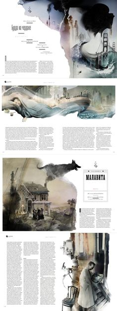 """Kelly Lam: """"Different media techniques including both wet and dry are enforced. Builds quite a vivid image that compliments the text. Dark and sullen colours connote the serious tone of the issue."""":"""