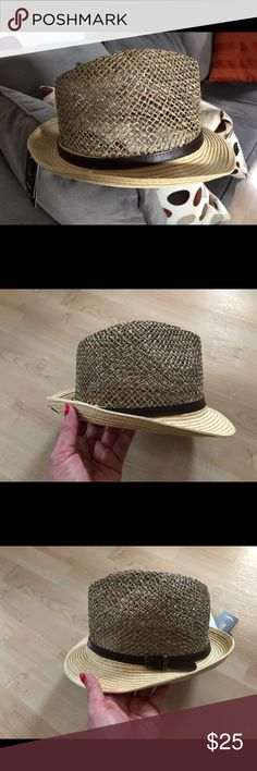 ce4189ef152 Summer Straw Fedora Style Hat This lovely summer straw fedora hat will look  so hot on