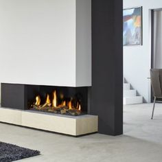 DRU Metro 100XT/2 Eco Wave 2 Sided Glass Balanced Flue Gas Fire