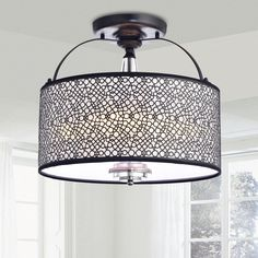 The distinctive look of this metal chandelier creates a tasteful look for any setting that blends transitional and vintage styles. Both decorative and distinct, you will appreciate the affect it has in your home for years to come.