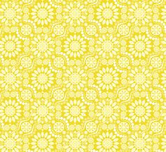 Florastar - Yellow Mural - Jenean Morrison| Murals Your Way removable wall paper