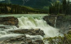 Athabasca Falls Jasper National Park Wallpaper for desktop in high resolution free download. We have best collection of athabasca alberta canada wallpaper