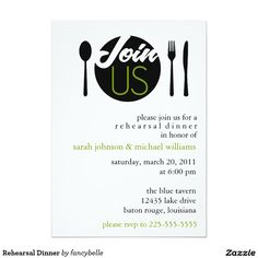 Rehearsal Dinner 5x7 Paper Invitation Card