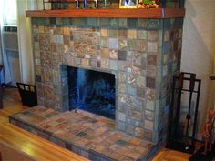 4 Capable Clever Tips: Fireplace Art Ceilings wood fireplace makeover.Concrete Fireplace Minimal fireplace built ins vintage.Log Burner Fireplace Built In. Candles In Fireplace, Paint Fireplace, Fireplace Mirror, Small Fireplace, Concrete Fireplace, Faux Fireplace, Fireplace Remodel, Modern Fireplace