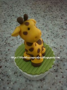 Image detail for -These adorable animals are handmade! Fondant Animal Cupcakes
