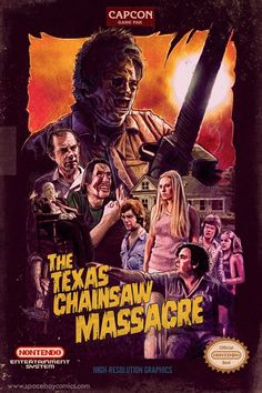 Classic poster of 'Texas Chainsaw Massacre' no doubt a notable horror movie. Horror Icons, Horror Movie Posters, Classic Horror Movies, Iconic Movies, Arte Horror, Horror Art, Horror Scream, Texas Chainsaw Massacre, Slasher Movies