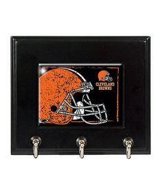 This Cleveland Browns Key Hook Rack by Great American Products is perfect! #zulilyfinds