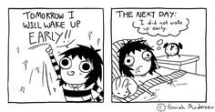 Tomorrow I will wake up early, a Sarah's Scribbles comic by Sarah Andersen