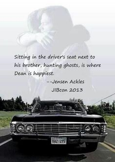 RT @kelios: I love that Jensen is just as passionate about Sam and Dean as we are :) #JensenLoveDay #J2sday