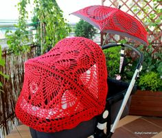 Crochet+canopy+&+parasol+covers+for+your+stroller+from+RubyCrochet+by+DaWanda.com