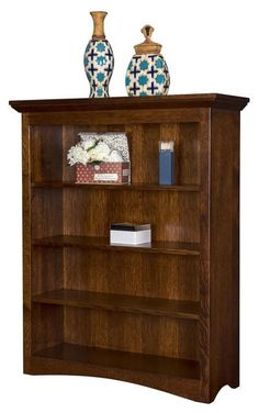 Amish Maysville Bookcase Solid wood mission bookcase. Available in 6 sizes. Adjustable wood shelves. Amish made in choice of wood and stain.