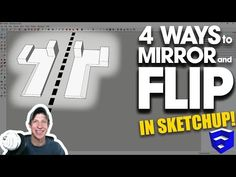 4 WAYS TO MIRROR AND FLIP OBJECTS in SketchUp - YouTube 3d Interior Design Software, Woodworking Plans, Sketchup Woodworking, Sketchup Models, Flipping, Objects, How To Plan, Mirror, Learning