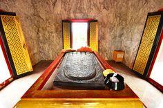 Buddha footprint, Wat Khao DeeSalak, Supanburi Thailand. #Travel #Thailand ++ English language support >> http://ThailandHolidays7.com
