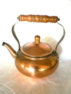 vintage copper tea pot japan by snugsnuggery on Etsy, $22.00