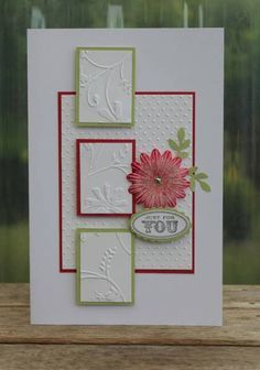 "Beautiful Embossed ""Just For You"" Card...Kraftikat - Cards and Paper Crafts at Splitcoaststampers."