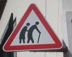 Senioren verkeersbord