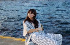Marine love... Gorgeous Annabelle Harbison wearing Au Revoir Les Filles necklace for Yen Magazine | Resort cruise nautical vibe | Click to shop fine jewellery