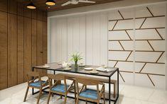 Dr Akash's Residence – Pavan Infratech Scandinavian Interior Design, Contemporary Interior, Modern Interior Design, Interior Designing, House Paint Interior, Kitchen Interior, Room Interior, Interior Ideas, Dining Room Walls