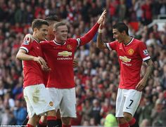Di Maria scores on his Old Trafford debut as United thrash QPR #dailymail