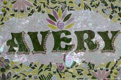 Custom Made Stained Glass Mosaic Name Signs  by WiseCrackinMosaics,