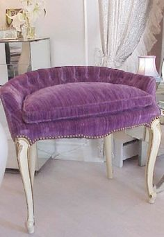 Purple chair perfect for a Paris apartment
