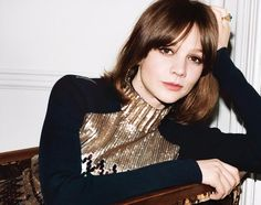 Carey Mulligan by Angelo Pennetta for WSJ May 2015 - DIOR Pre Fall 2015 dress that LOB with fringe..