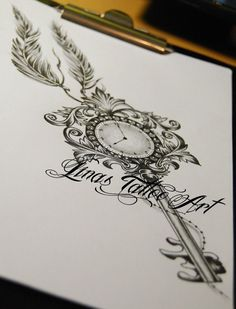 … Schlüssel tattoo- designs, – tattoos for women half sleeve Key Tattoos, Rose Tattoos, Body Art Tattoos, Tattoo Drawings, Tatoos, Portrait Tattoos, Skull Tatto, Tattoo Henna, Get A Tattoo